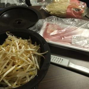 引きこもりクッキング:もやしと豚の蒸し鍋