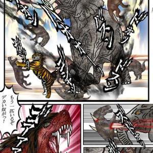 214章 ゴルゴノプスとアフリカ象の大乱闘!! もう一匹いるぞ、デカい奴がっ!!