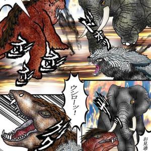 216章 狡猾なゴルゴノプス、アフリカ象の脇腹を狙っているぞ!!