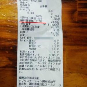 ガソリン117円で給油してきました。
