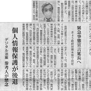 今国会成立合意に抗議/国民投票法案で日本共産党:穀田氏・・・今日の赤旗記事