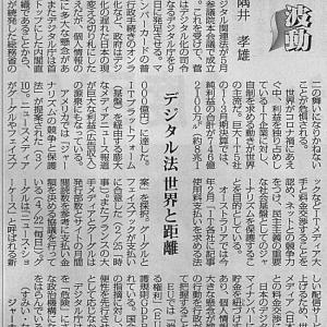 デジタル法 世界と距離/波動 隅井孝雄(ジャーナリスト)・・・今日の赤旗記事