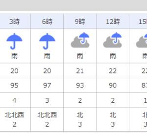 またまた雨の日に