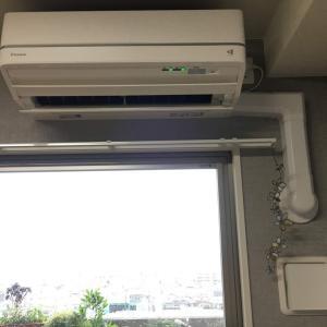 (」・e・)  エアコンはいちどスイッチ入れたらおしまいですよね 、、、💧