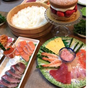 手巻き寿司でお祝い