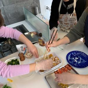 自宅教室、ぽかぽか薪ストーブ料理☆
