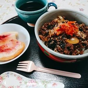 土曜日の朝食とSLやまぐち号と夕食