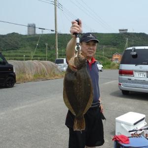 千葉・飯岡沖のヒラメ釣り。