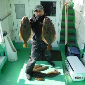 千葉県・飯岡沖のヒラメ釣り。