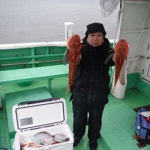 千葉県・飯岡沖のホウボウ釣り。