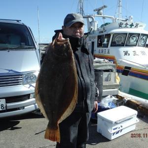 千葉・外川沖のヒラメ釣り。