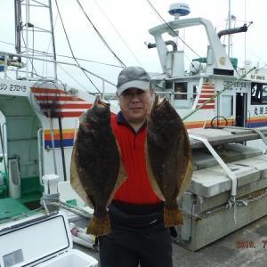 千葉県・銚子沖のヒラメ釣り。