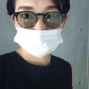 マスクには薄いカラーレンズのサングラス擬きがオススメ♡