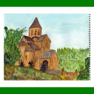 コーカサス三ヵ国旅行(28)ジョージア・トビリシ旧市街のメテヒ教会