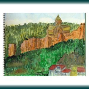 コーカサス三ヵ国旅行(29)ジョージア・トビリシ旧市街のナリカラ要塞