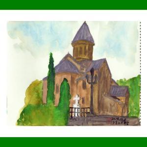 コーカサス三ヵ国旅行(30)ジョージア・トビリシ旧市街のシオニ大聖堂