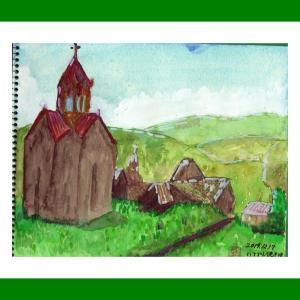 コーカサス三ヵ国旅行(32)アルメニアのハフプト修道院2