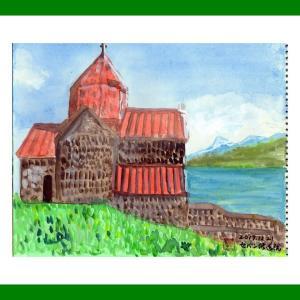コーカサス三ヵ国旅行(34)アルメニアのセバン修道院2