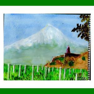 コーカサス三ヵ国旅行(38)ホルヴィラップ修道院とアララット山
