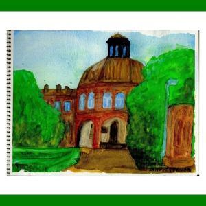 コーカサス三ヵ国旅行(39)エチミアジン大聖堂傍の建物