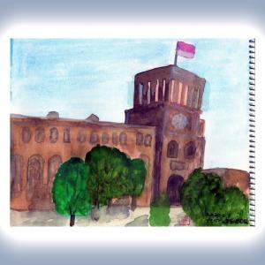 コーカサス三ヵ国旅行(45 最終回)アルメニア・エレバン・共和国広場