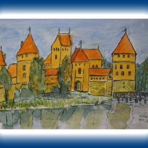 トラカイ城(リトアニア)