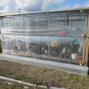 冬を前に 温室完成!