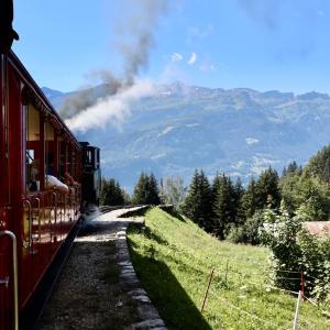 【スイス旅行③】蒸気機関車でgo♪