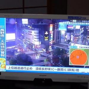 台風19号 不要不急な外出は控える