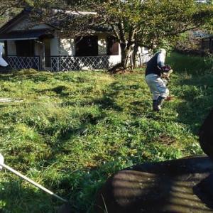農集排最終処分場草刈り作業