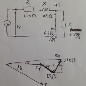 【電験講座】送電線の電圧降下
