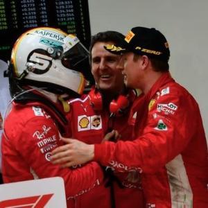 3位に落胆のライコネン、怒りの無線を説明。「フェラーリがベッテルを優先したとは考えていない」