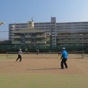 寒のテニス