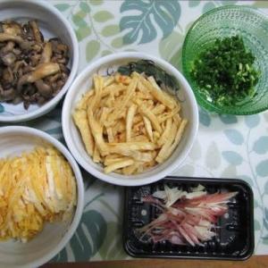7/23素麺で夕ご飯