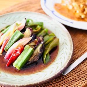 夏野菜のマリネとカレー