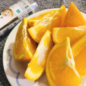 お腹空いて震える手で柑橘を切る〜