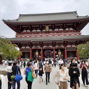 東京人自粛緩和の浅草