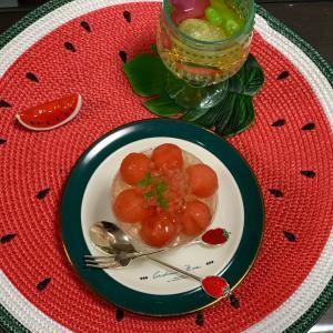 【おうちカフェ】ひんやりスイカのサマーフレッシュ@神戸屋キッチン