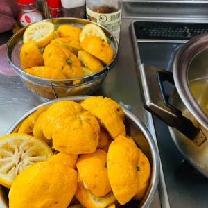 柚子酢作りました^_^