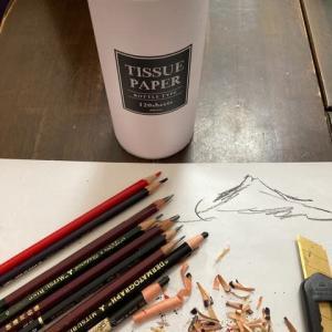 鉛筆削りました〜。