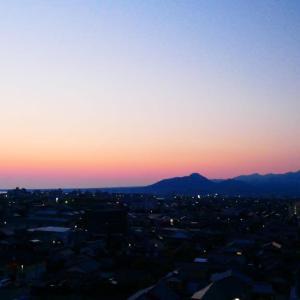 今朝の大山さんと朝陽