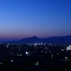 今朝の大山と朝日 動画あり