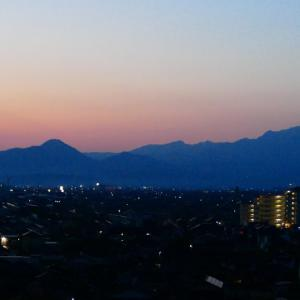 今朝の大山 だるま朝日にはなりませんでした