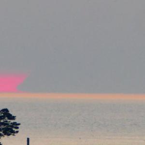 達磨太陽(朝陽)と大山さん 2020年だるま朝日④