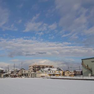 雪解けの米子市