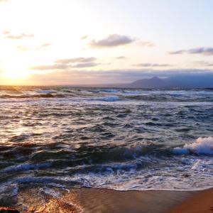 今朝の大山さんと日本海