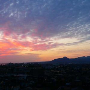 今朝の朝焼け大山さん♪ 6月21日