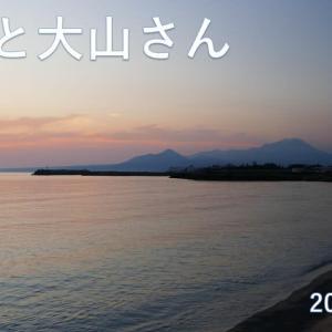朝日と今朝の大山さん 8月1日