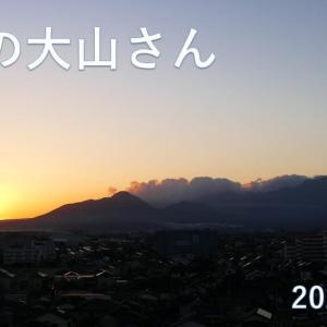 今朝の大山さんと朝日