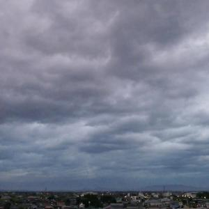 台風10号を迎える米子市内 20190815
